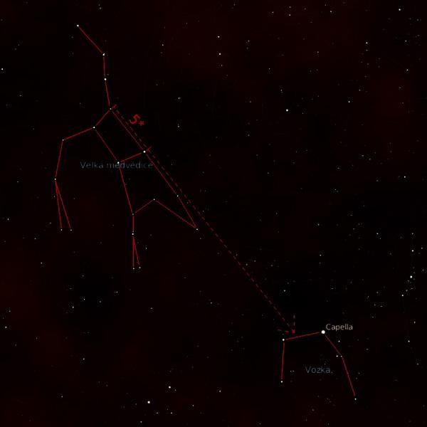 Jak nalézt souhvězdí Vozka
