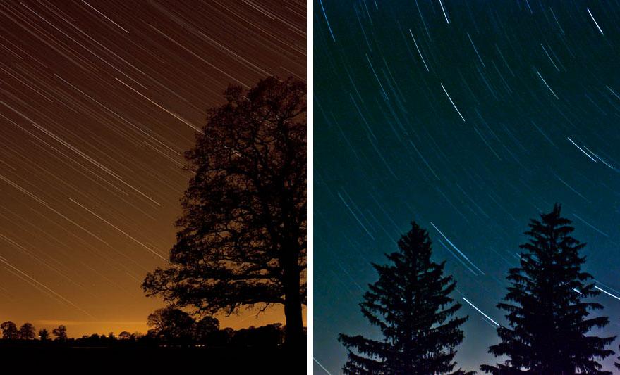 Obrázek 2: Záznam hvězdných stop