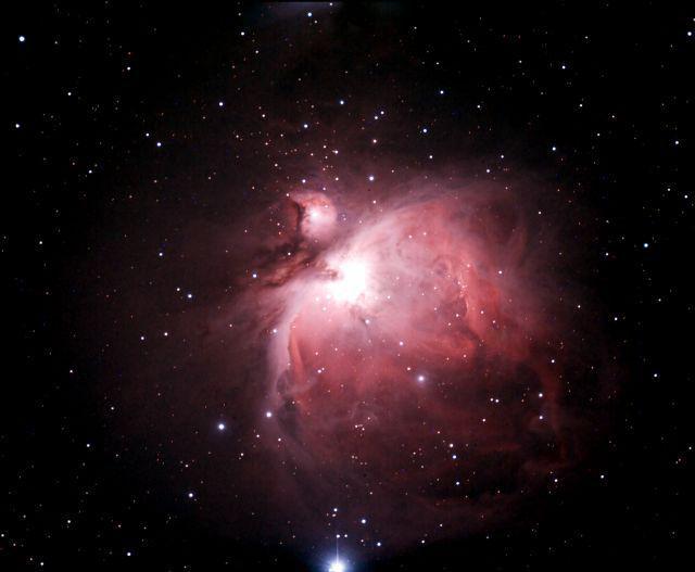 Obrázek 10: Snímek Velké mlhoviny v Orionu je vhodným cílem pro první pokusy