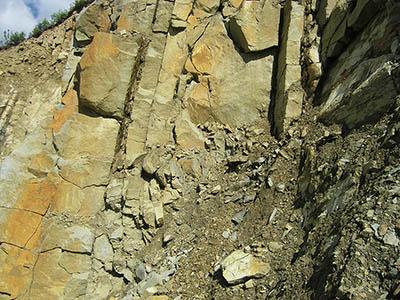 Pískovce soláňského souvrství