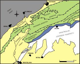 Zjednodušená geologická skica zájmového území