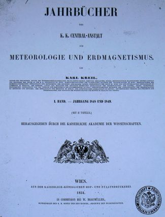 Meteorologická ročenka Rakouska-Uherska z roku 1848 a 1849