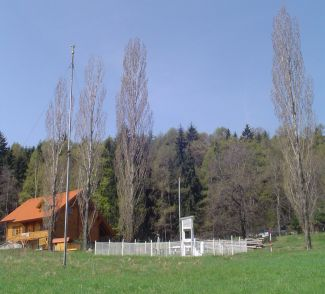 Klasická meteorologická stanice v Městě Albrechticích-Žárech