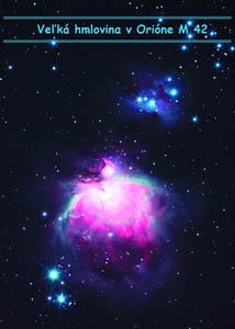 Veľká hmlovina v Orióne M42